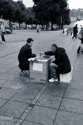 Zwei Schachspieler
