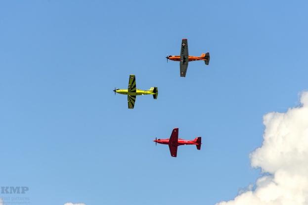 Different types of Pilatus planes