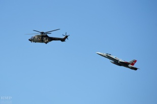 Swiss Air Force Super Puma & F/A-18 C/D Hornet
