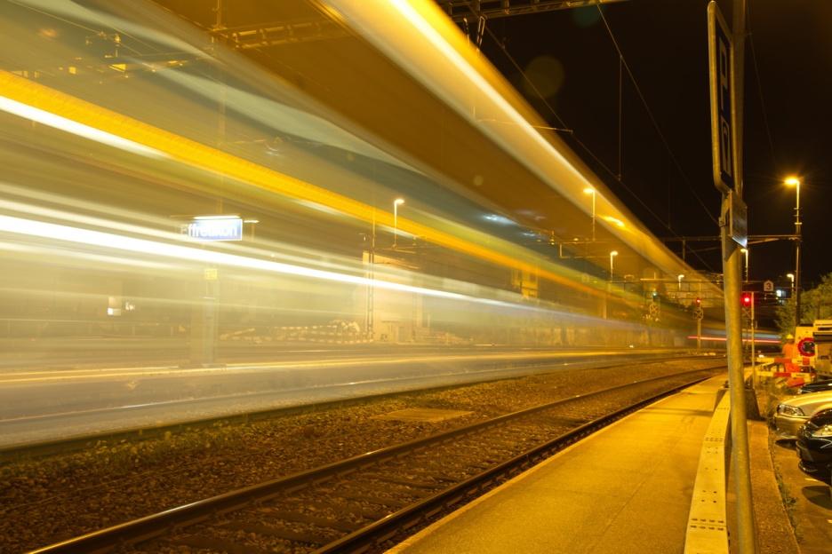 Effretikon bei Nacht