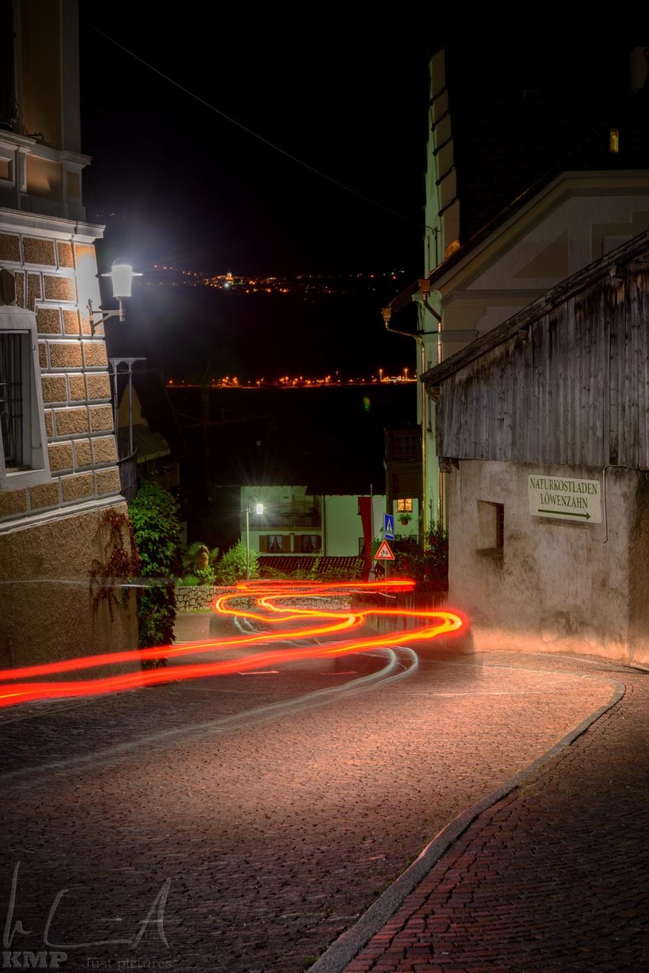 Lichtspiele in den Gassen von Tramin